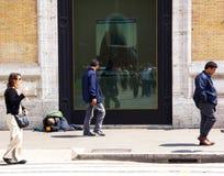 无家可归的妇女 免版税图库摄影