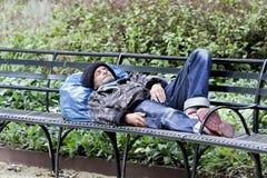 无家可归的曼哈顿 免版税库存图片