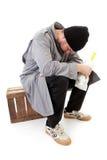无家可归的男性流浪者 免版税库存图片