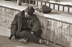 无家可归穆斯林人 免版税库存照片