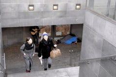 无家可归者在哥本哈根 库存照片