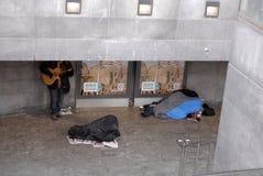 无家可归者在哥本哈根 免版税库存图片