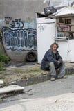 无家可归者在墨西哥城 免版税库存照片