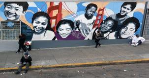 无家可归者在旧金山加利福尼亚 库存照片
