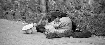 无家可归者在波哥大 免版税图库摄影