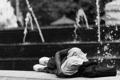 无家可归者在纽约 库存照片