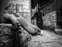 无家可归者生活  库存图片