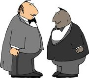 无尾礼服的二个人 免版税库存照片