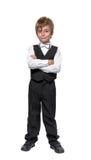 无尾礼服的小男孩 免版税库存照片