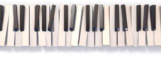 无序的抽象琴键3D 免版税库存照片