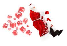 无形的汽车的圣诞老人 免版税图库摄影