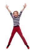 无忧无虑的孩子。 免版税库存照片
