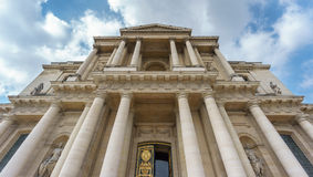 无效宫殿门面,巴黎 免版税图库摄影