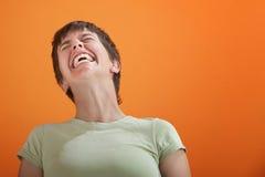 无法控制的笑声 免版税库存图片