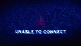 无法连接文本数字噪声抽搐小故障畸变作用错误动画 股票视频