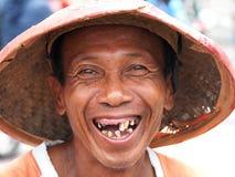 无牙的人 免版税库存照片