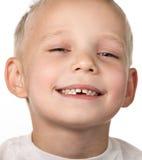 无牙的孩子 库存照片