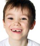 无牙的男孩 免版税库存图片