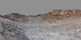 无生命石的沙漠 免版税库存图片