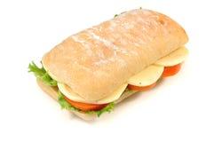 无盐干酪三明治 免版税库存照片