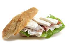无盐干酪单片三明治 免版税库存照片