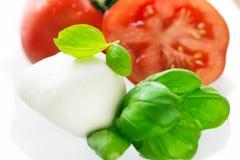 无盐干酪新鲜的蕃茄 免版税库存照片