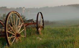 无盖货车和农场,新罕布什尔 免版税图库摄影