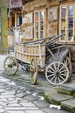 无盖货车在扎科帕内,波兰 图库摄影