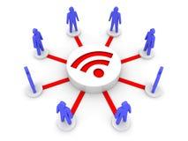 无线互联网。网上会议。 免版税库存照片