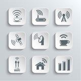 无线和Wi-Fi被设置的网象 库存例证