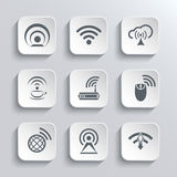 无线和Wi-Fi被设置的网象 库存图片