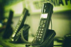 给无线打电话 库存照片