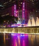 无线电城市在晚上 图库摄影