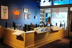 活无线电广播在三角洲文化访客中心,海伦娜阿肯色 库存照片