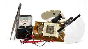 无线电技术修理  库存图片