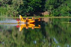无线电操纵的式样水上飞机 库存图片