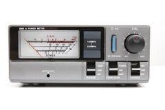 无线电收发器的SWR米 免版税库存照片