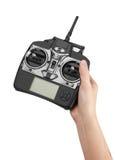 无线电遥控手中 库存照片