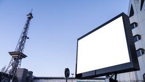 无线电铁塔和广告显示 免版税库存图片