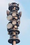 无线电铁塔特写镜头 免版税图库摄影