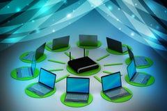 无线网络系统 图库摄影