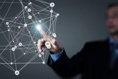 无线连接未来派概念 免版税库存照片