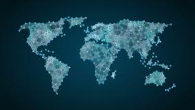 无线通信象做全球性世界地图,事互联网  财政技术 影视素材