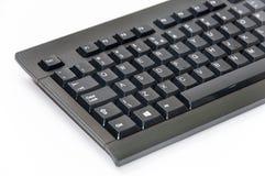 无线黑计算机个人计算机键盘 免版税图库摄影