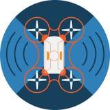 无线Quadcopter寄生虫摘要象 库存图片