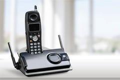 无绳的现代电话,特写镜头视图 免版税库存图片