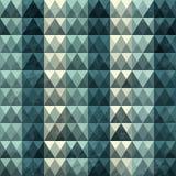 无缝三角蓝色的模式 免版税库存图片