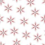 无缝与稀薄的枝杈的红色六针对性的星 库存照片