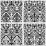 无缝东部花卉的模式 免版税库存图片