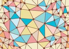 无缝乱画几何的模式 免版税库存照片